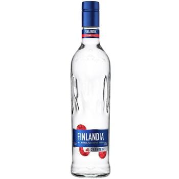 Водка Finlandia Клюква белая 37.5% 0,7л - купить, цены на Ашан - фото 1