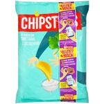 Чіпси Flint Chipster's картопляні зі смаком сметани із зеленню 130г