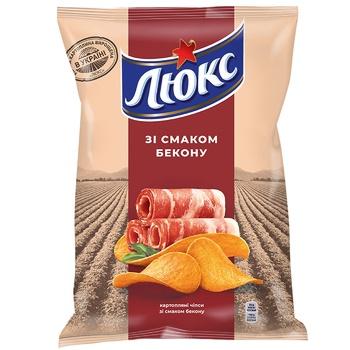 Чипсы Люкс картофельные со вкусом бекона 133г