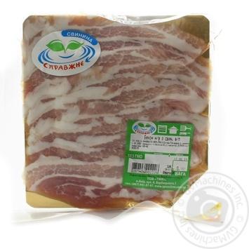 Бекон Справжне-Е из свиной грудины охлажденный