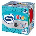Салфетки косметические Zewa Kids Zoo Cube детские 3-х слойные 60шт