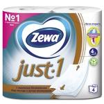 Туалетная бумага Zewa Just 1 4-х слойная 4шт - купить, цены на Восторг - фото 2
