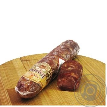 Sausage Rohanskyy meat processing plant Imperial pork raw smoked vacuum packing