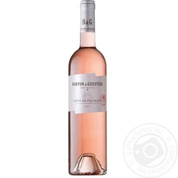 Вино Barton&Guestier Cotes de Provence розовое сухое 13% 0,75л