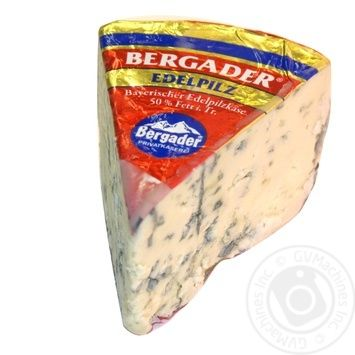Cheese Bergader Blue with blue mold 50%