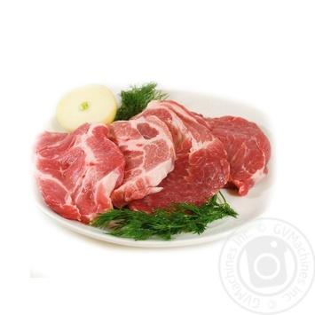 Стейк свиной из ошейка охлажденный без кости