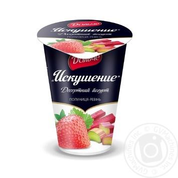 Йогурт десертний Дольче полуниця-ревінь 2.5% 150г Україна