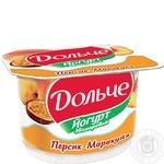 Йогурт Дольче персик-маракуйя 3.2% 120г Украина
