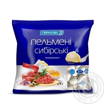 Meat dumplings Hercules Siberian with beef frozen 400g sachet