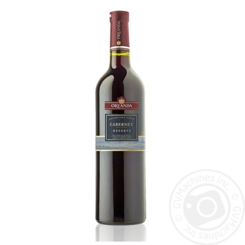 Вино красное Ореанда Каберне Резерв ординарное выдержанное сортовое столовое сухое 13% стеклянная бутылка 750мл Украина