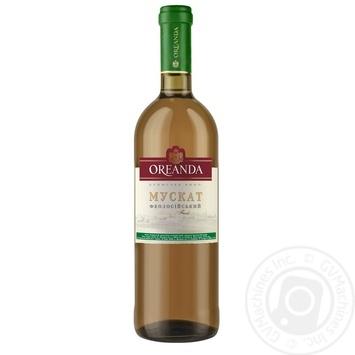 Вино белое Ореанда Мускат Феодосийский ординарное десертное сладкое 16% стеклянная бутылка 700мл Украина