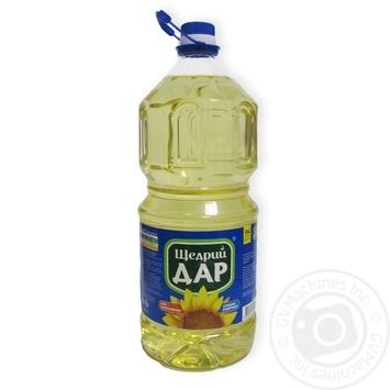 Масло подсолнечное Щедрый Дар холодной рафинации 3л
