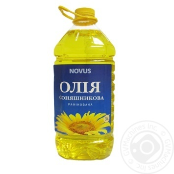 Oil Novus sunflower refined 5000ml - buy, prices for Novus - image 1