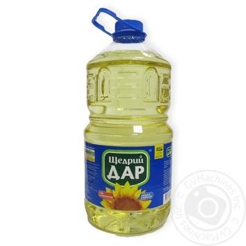 Масло растительное Щедрый дар подсолнечное рафинированное 5л