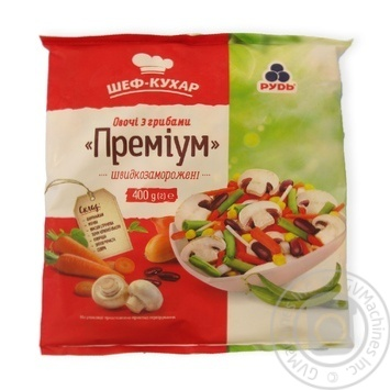 Rud frozen vegetables and mushrooms 400g