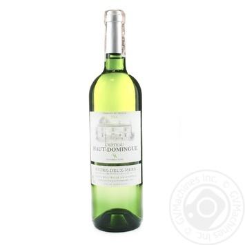 Вино Chateau Haut Domingue Entre-deux-mers белое сухое 12,5% 0,75л