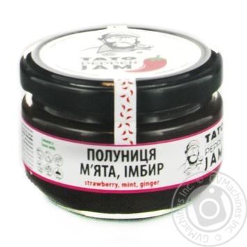 Джем соус полуниця+м'ята імбир TatoPepperJam 130гр скляна банка