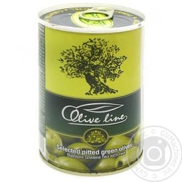 Оливки Olive Line отборочные без косточки 420г - купить, цены на Novus - фото 1