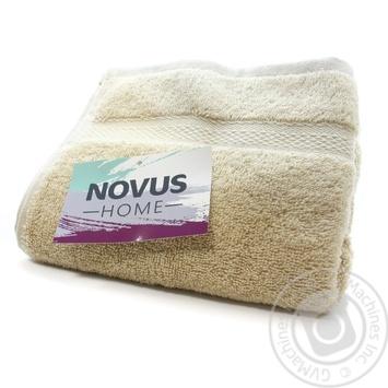 Рушник махровий 40*70 бежевий 500г/м2 NOVUS HOME - купить, цены на Novus - фото 1