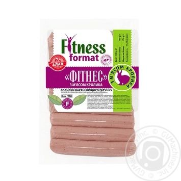 Alan Fitness Sausages with Rabbit Meat 225g - buy, prices for Novus - image 1