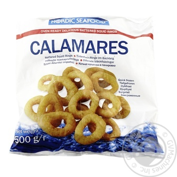 Nordic Seafood frozen in breading sqid rings 500g - buy, prices for Novus - image 1