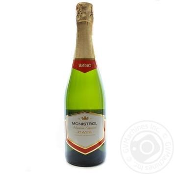 Вино ігристе Berberana Marques de Monistrol Cava Reserva Semi Seco Blanco 11% 0,75л