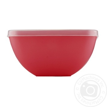 Миска-салатниця квадратна з кришкою Пластторг 0,5л 83177 - купить, цены на Novus - фото 1