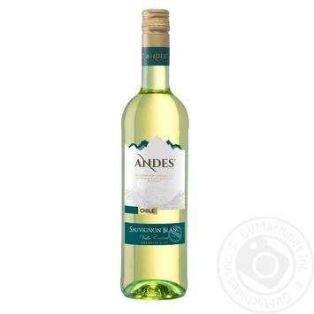 Вино Andes Sauvignon Blanc белое сухое 12,5% 0,75л - купить, цены на Novus - фото 1