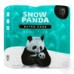 Snow Panda Sensitive Three-Layer Toilet Paper 4pc - buy, prices for Novus - image 1