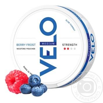 Никотиновые подушечки Velo Berry Frost Medium - купить, цены на Таврия В - фото 1