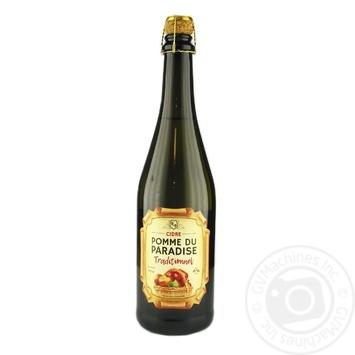 Сидр Pomme du Paradise Традиційний білий напівсолодкий 6% 0,75л - купити, ціни на Novus - фото 1