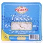 Творог President Творожная традиция нежирный 0,2% 350г