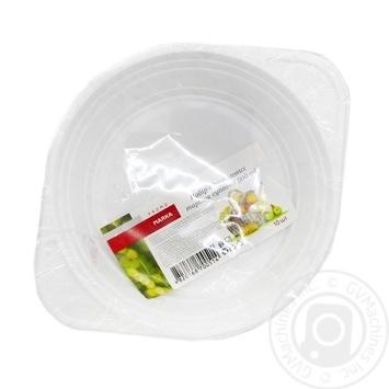 Marka Promo Disposable Soup Plate 500ml 10pcs - buy, prices for Novus - photo 1