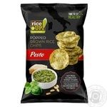 Rice Up Pesto Popped Brown Rice Chips 60g