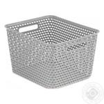 Basket Curver light gray plastic for things 2300ml Poland