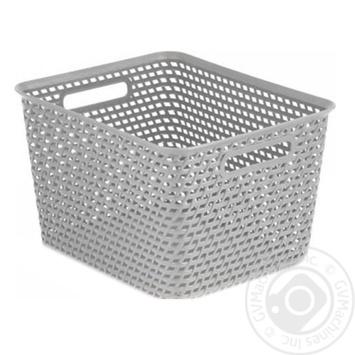Корзина прямоугольный Сurver your style светло серый 2.3л - купить, цены на Novus - фото 1