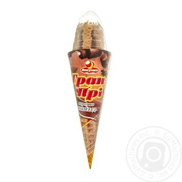 Мороженое Ласунка Гран-При шоколад рожок 140г - купить, цены на Таврия В - фото 1