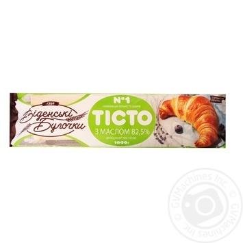Тесто Венские Булочки дрожжевое слоеное со сливочным маслом 1000г - купить, цены на Метро - фото 1