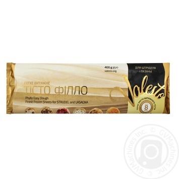 Тесто Филло Valesto для штруделя и лазаньи замороженное 400г - купить, цены на Novus - фото 1