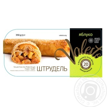 Valesto With Apple Phillo Dough Frozen Strudels 350g - buy, prices for MegaMarket - image 1