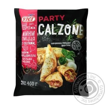 Мини пицца Vici Party Calzone с салями, моцареллой и белыми грибами замороженная 400г
