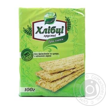 Galleti Yeast & Sugar Free 3 Cereals Crispbread - buy, prices for Novus - image 1