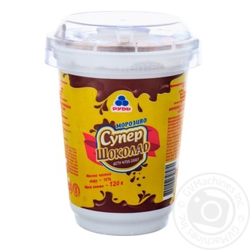 Мороженое Рудь Супершоколад в полистирольном стакане 120г - купить, цены на Ашан - фото 1