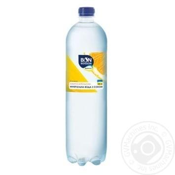 Напиток сокосодержащий сильногазированный Бон Буассон со вкусом Манго-Апельсин с подсластителями 1л - купить, цены на Ашан - фото 1