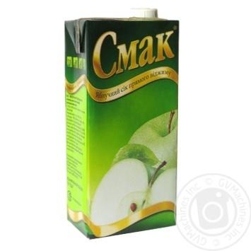 Сок Смак яблочный восстановленный осветленный 1000мл - купить, цены на Ашан - фото 4