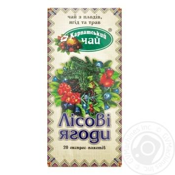 Чай Карпатский Лесная ягода травяной 2г х 20шт - купить, цены на Novus - фото 1