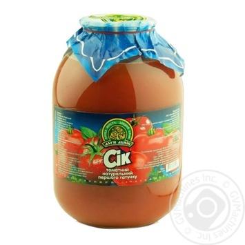 Сок Дары Ланив томатный натуральный первого сорта стерилизованный стеклянная банка 3000мл Украина - купить, цены на МегаМаркет - фото 1