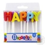 Свічки для торту набор 13штук Koopman