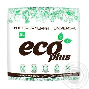 Субстрат торф'яний ECOPLUS Універсальний 3л - купити, ціни на Novus - фото 1