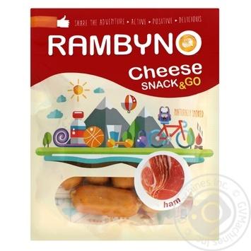 Сыр плавленый Rambyno копченый с ветчиной 75г - купить, цены на МегаМаркет - фото 1